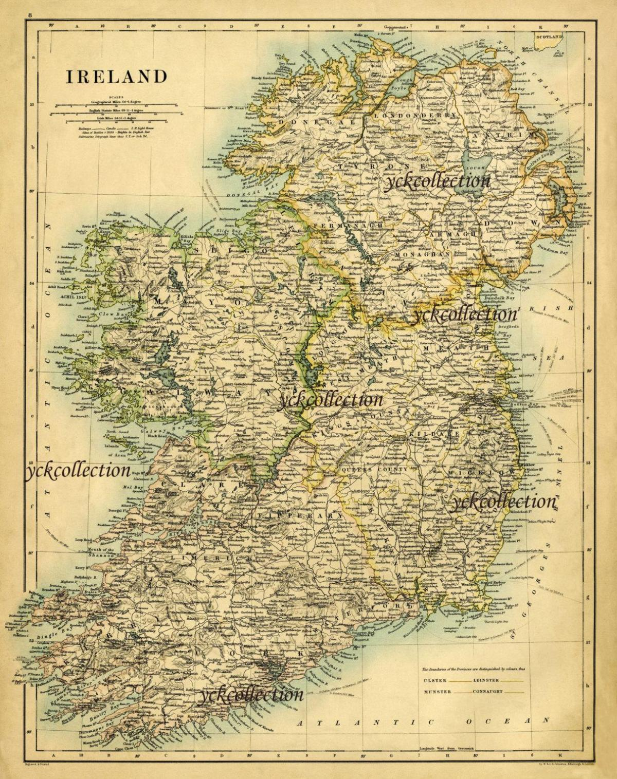 Ancient Map Of Ireland.Ancient Ireland Map Antique Map Of Ireland Northern Europe Europe