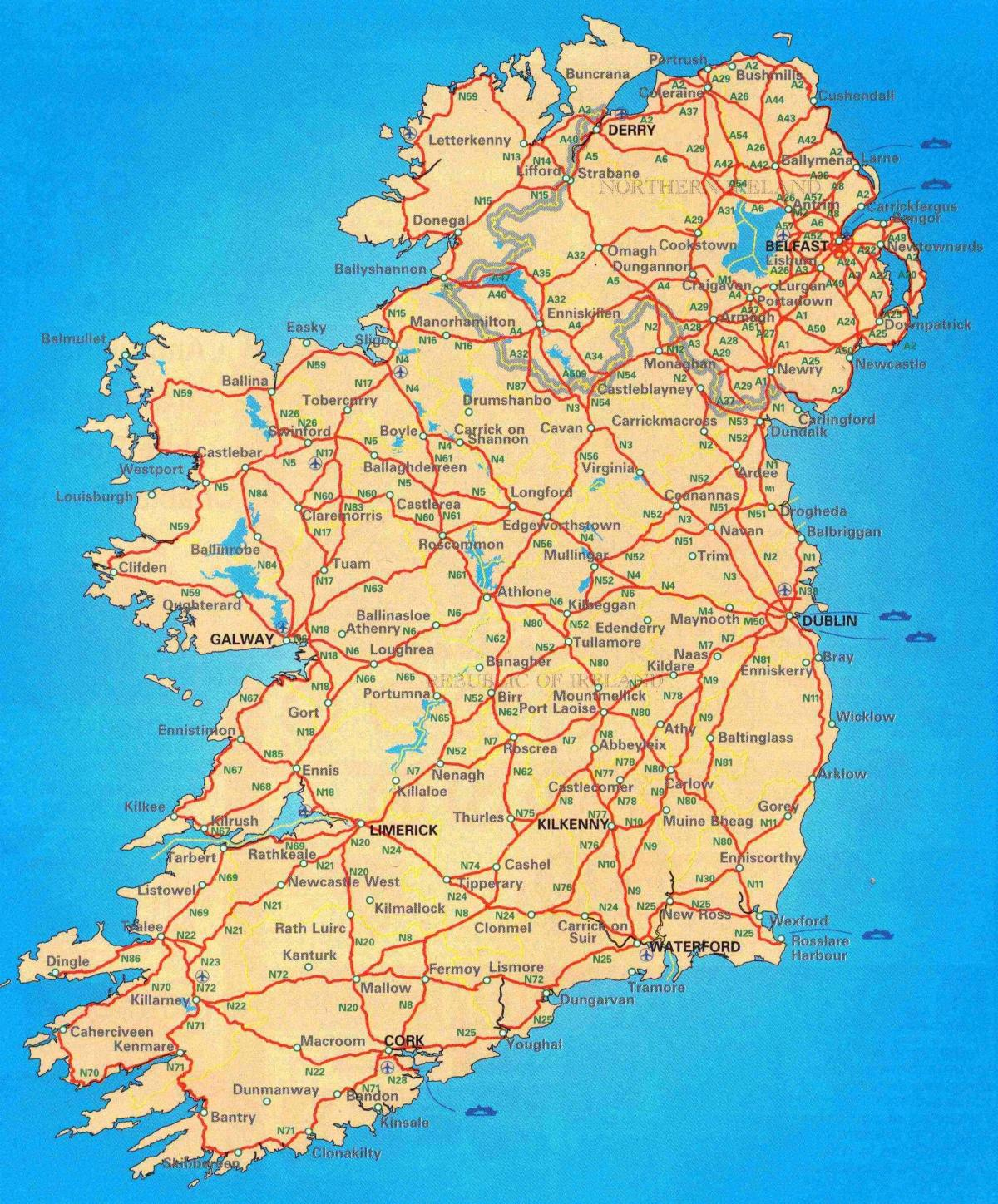free road map of ireland