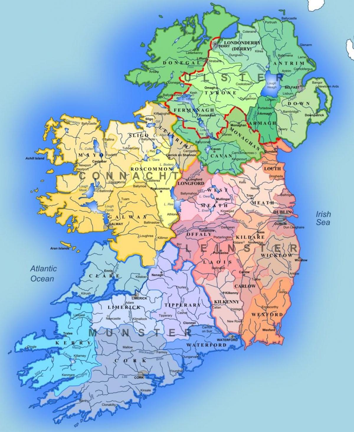 Map Of Rivers In Ireland.Rivers Of Ireland Map For Kids Map Of Rivers Of Ireland Map For