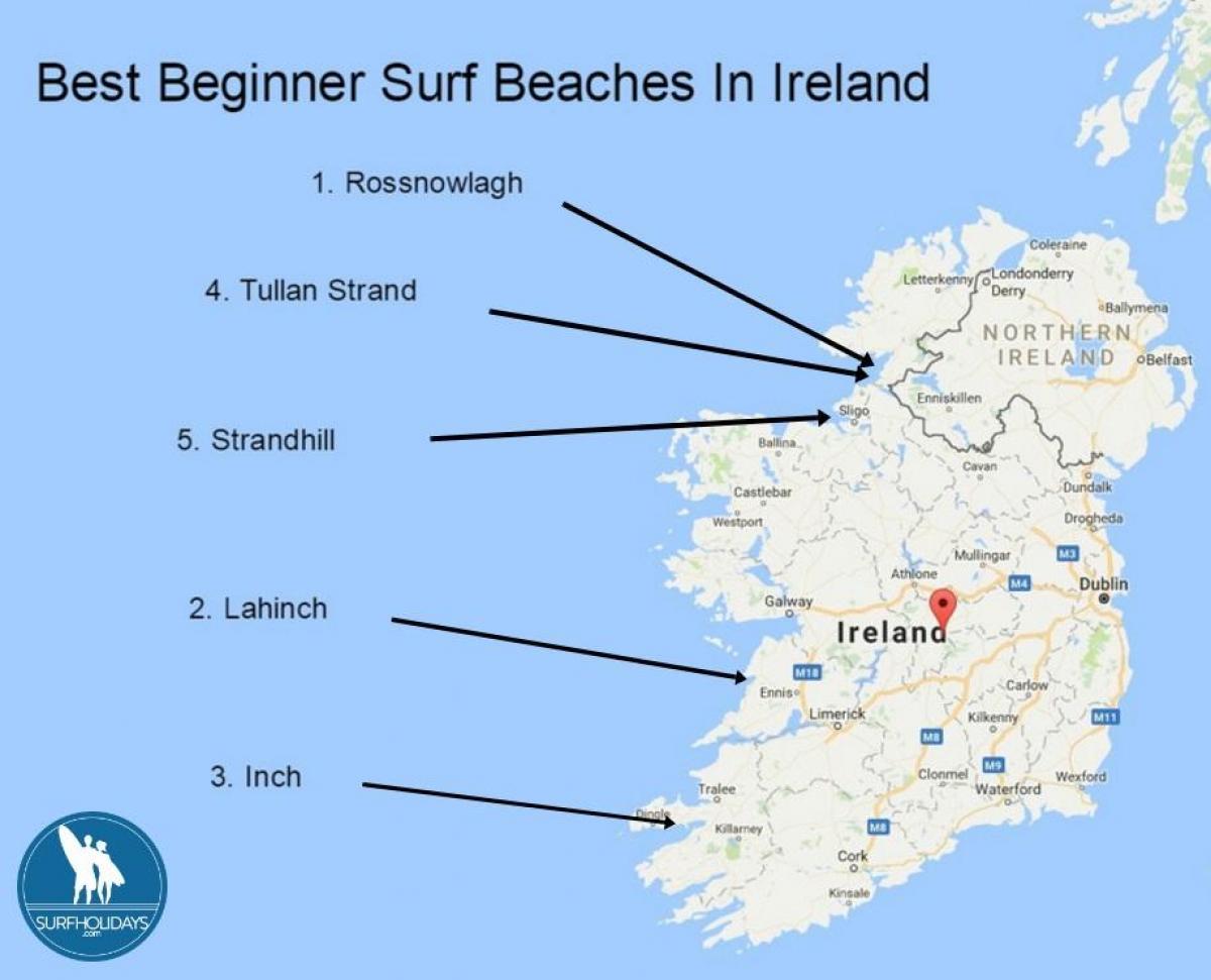 Map Of Ireland Beaches.Surfing In Ireland Map Map Of Surfing In Ireland Northern