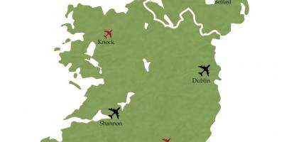International airports in ireland map