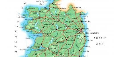 Ireland Elevation Map.Lakes Of Ireland Map Map Of Lakes Of Ireland Northern Europe