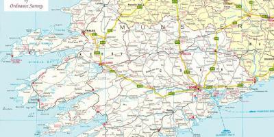 Map Of North West Ireland.Ireland Eire Map Maps Ireland Eire Northern Europe Europe