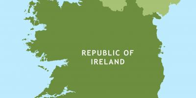Road map of republic of ireland